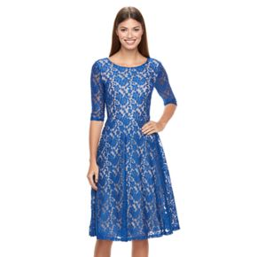 Women's Chaya Floral Lace Midi Fit & Flare Dress