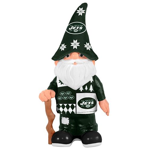Forever Collectibles New York Jets Ugly Sweater Garden Gnome