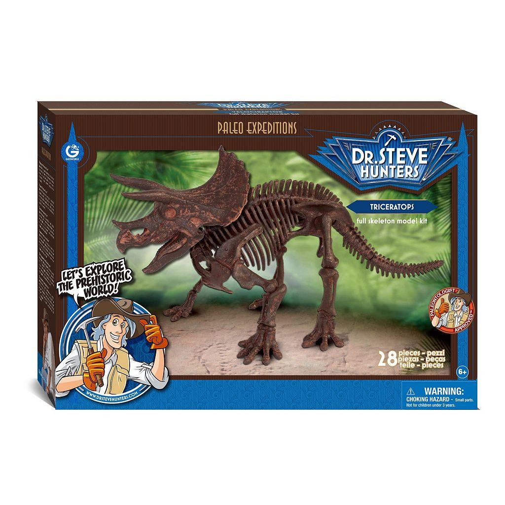 Geoworld Dr. Steve Hunters Paleo Expeditions Kit - Triceratops Dinosaur