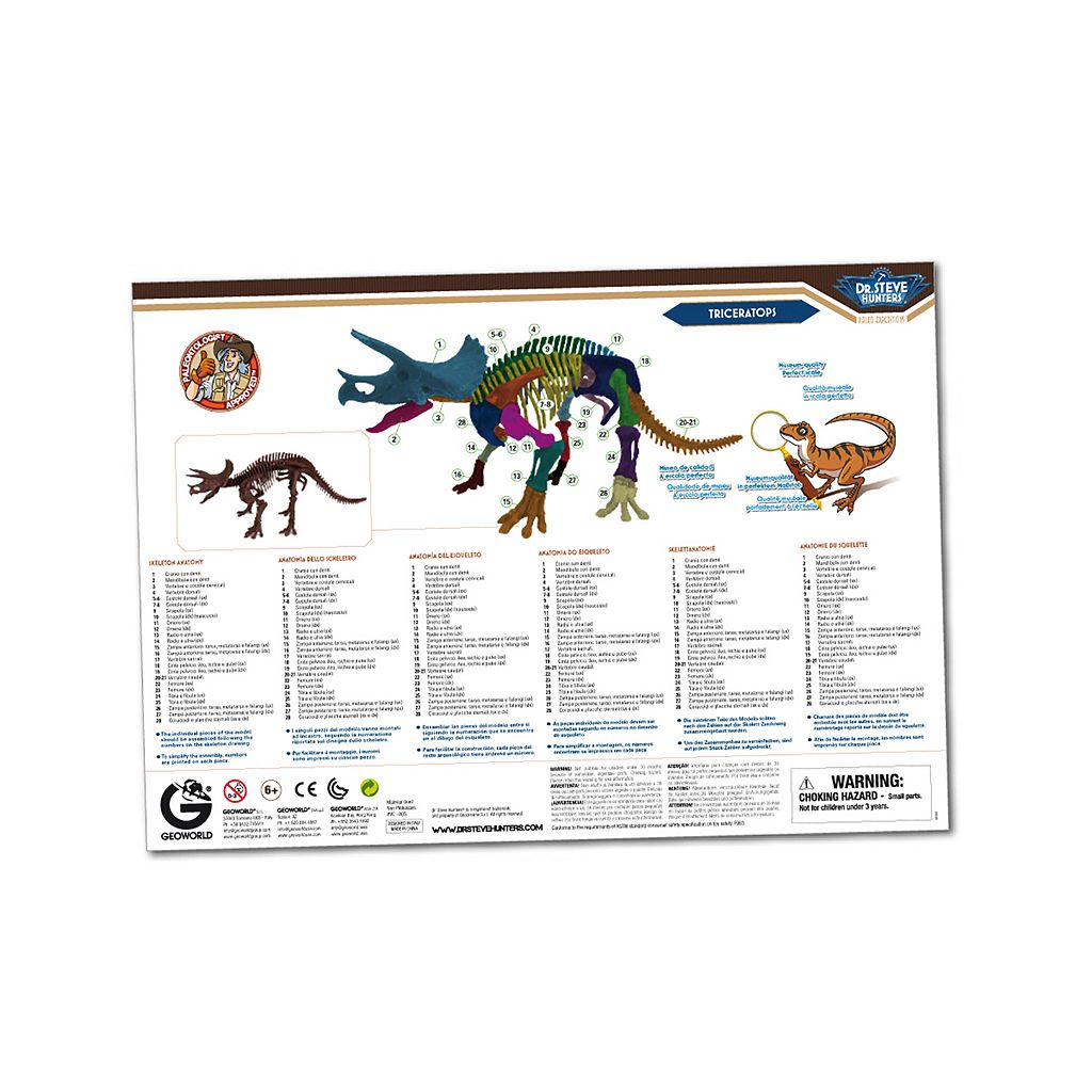 Geoworld Dr. Steve Hunters Paleo Expeditions Kit - Triceratops Dinosaur
