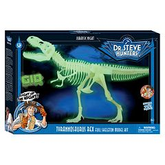 Geoworld Dr. Steve Hunters Jurassic Night Glow in the Dark T. Rex Skeleton Dinosaur by