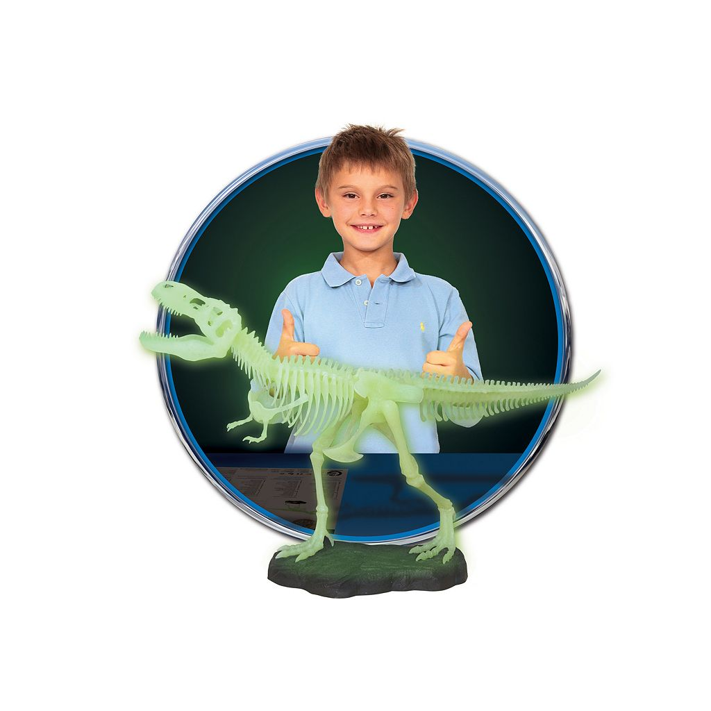 Geoworld Dr. Steve Hunters Jurassic Night Glow in the Dark T. Rex Skeleton Dinosaur