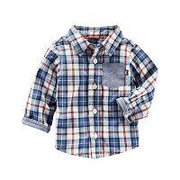 Baby Boy OshKosh B'gosh® Plaid Chambray Shirt