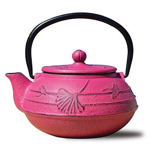 Old Dutch Cast-Iron Ginkgo Teapot