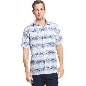 Men's Van Heusen Classic-Fit Oasis Crosshatch Button-Down Shirt