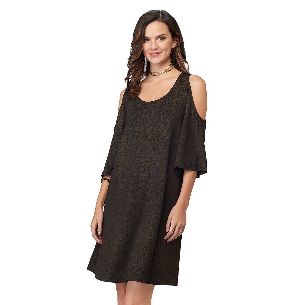 Women's Indication by ECI Cold-Shoulder Swing Dress
