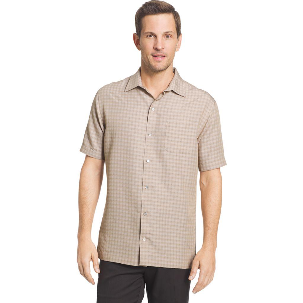 Men's Van Heusen Classic-Fit Grid Button-Down Shirt