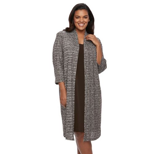 Plus Size Connected Apparel Mock Layer Dress