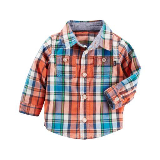 Baby Boy OshKosh B'gosh® Plaid Button-Front Shirt