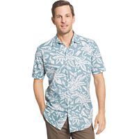 Men's Van Heusen Classic-Fit Leaf Button-Down Shirt