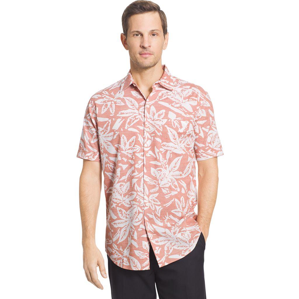 Men's Van Heusen Classic-Fit Leaf Button-Down Shirt
