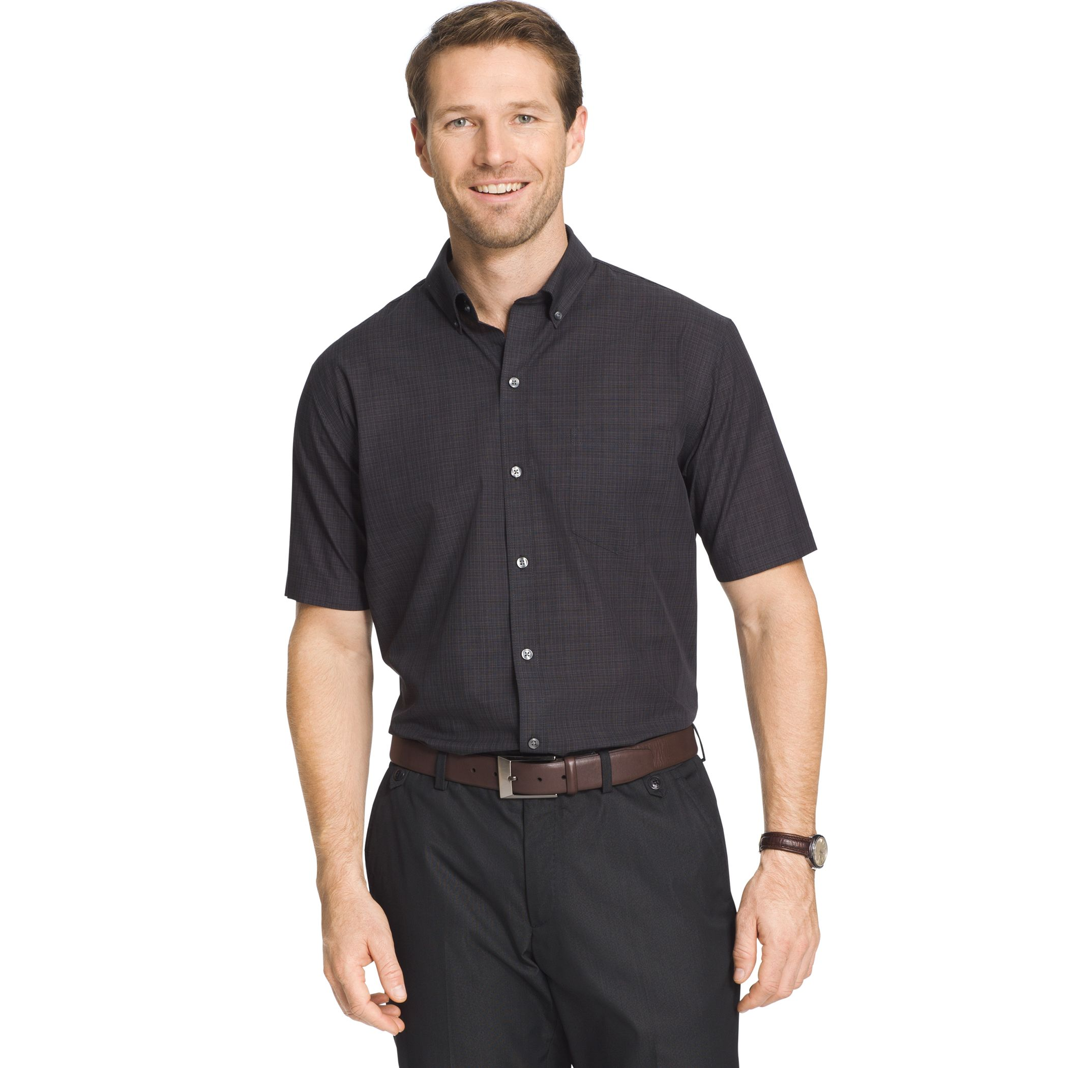 Black Cotton Button Down Shirt