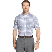 Men's Van Heusen Flex Stretch Classic-Fit Plaid No-Iron Button-Down Shirt