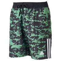 Men's adidas Camo Grid Microfiber Volley Swim Trunks