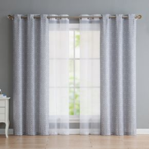 VCNY Estrada 4-pack Window Curtains