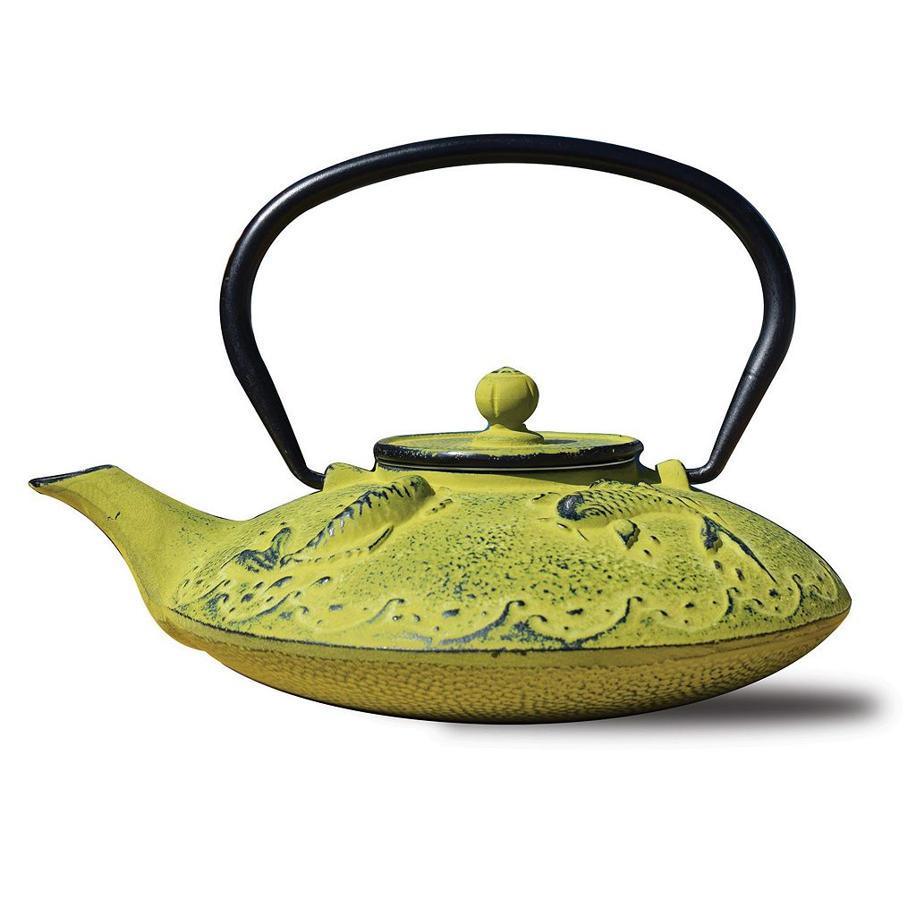 Old Dutch Cast-Iron Ogon Koi Teapot