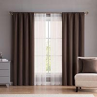 VCNY 6 pc Diana Window Curtain & Throw Pillow Set