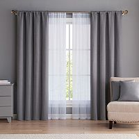 VCNY 6-piece Diana Curtain & Throw Pillow Set