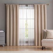 VCNY 6 pc Diana Window Curtain & Throw Pillow Set