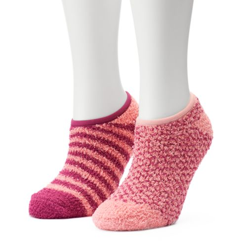 Women's SONOMA Goods for Life™ 2-pk. Striped Low-Cut Cozy Gripper Socks