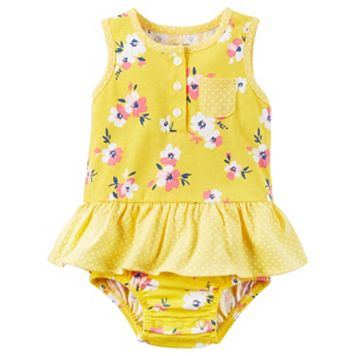 Baby Girl Carter's Floral Ruffle Sunsuit