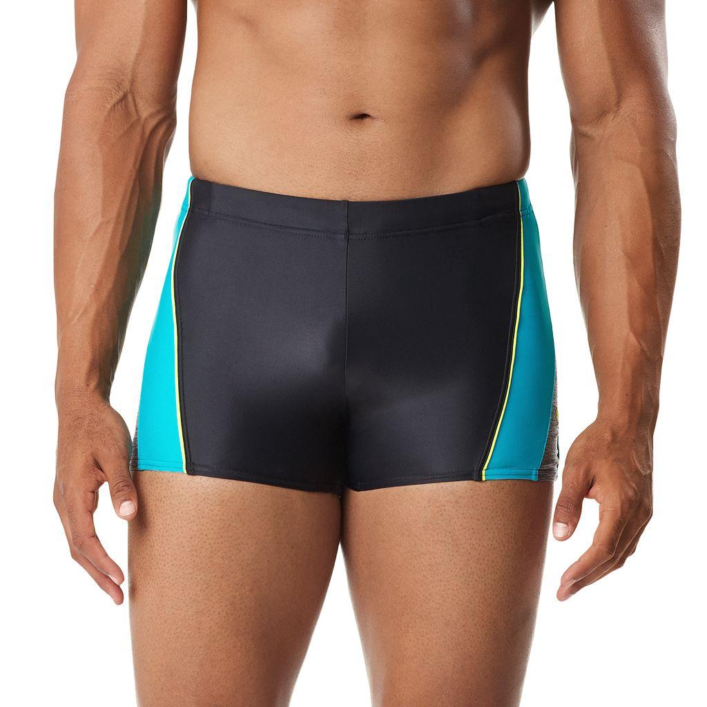 Men's Speedo Ignite Splice Colorblock Square Leg Swim Shorts