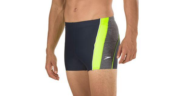 Men S Speedo Ignite Splice Colorblock Square Leg Swim Shorts