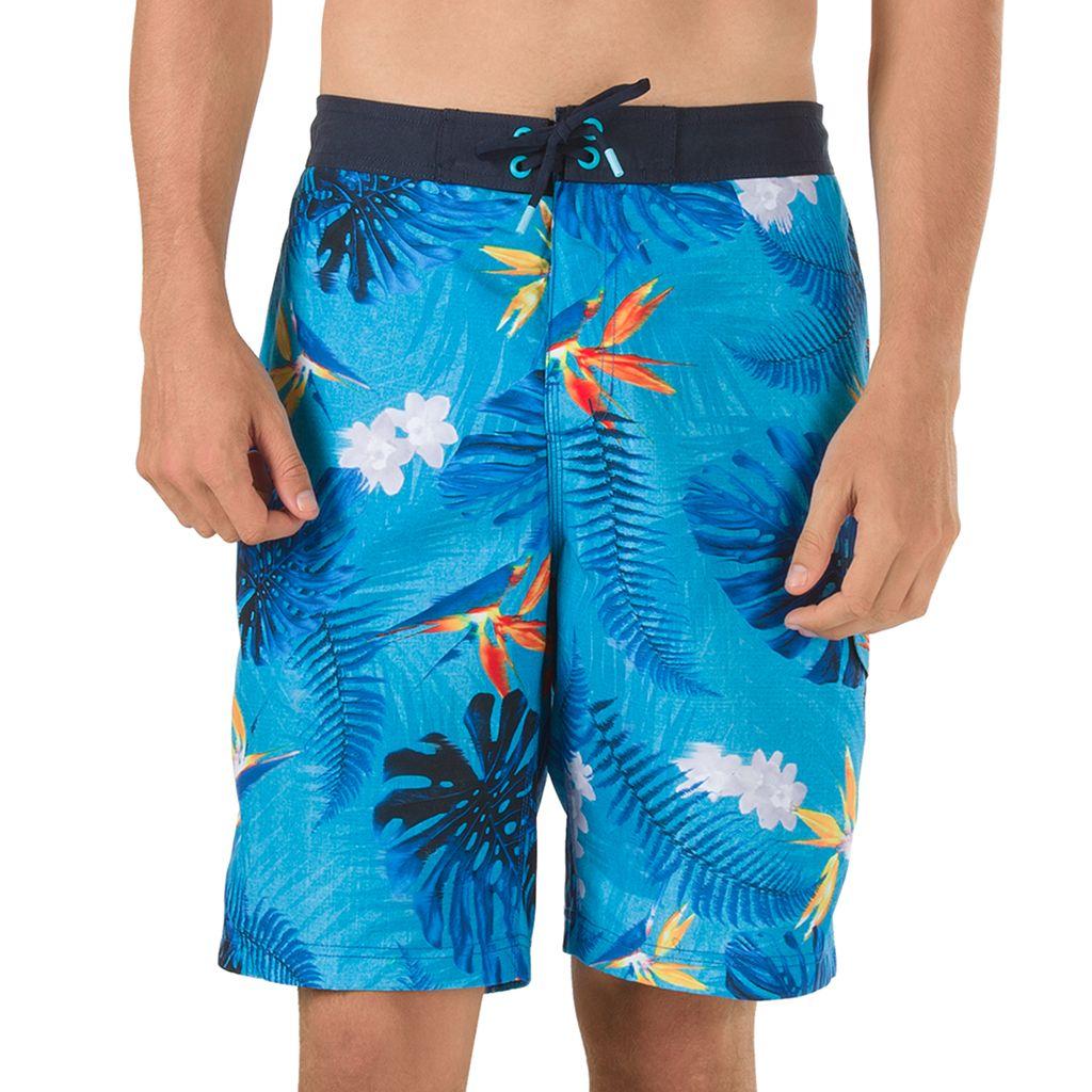 Men's Speedo Paradise Floral VaporPLUS Microfiber E-Board Shorts