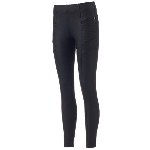 Women's Artisan Crafted by Democracy Slimming Coated Ponte Leggings