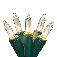 300 Light Clear Mini Green Wire Indoor / Outdoor Christmas Lights