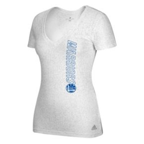 Women's adidas Golden State Warriors Vertical Logo Tee