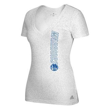 Women's adidas Golden State Warriors Vertical Logo Tee
