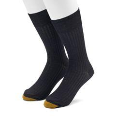 Men's GOLDTOE 2-pack Comfort Top Non-Binding Crew Socks