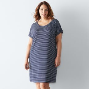 Plus Size SONOMA Goods for Life? The Everyday French Terry Sleep Shirt