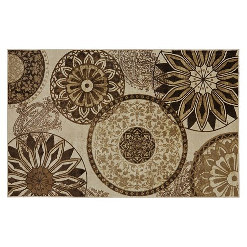 Mohawk home inspired india medallion rug for Home inspired by india rug