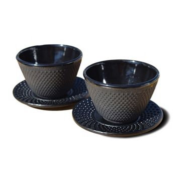 Old Dutch 2-pc. Cast-Iron Teacup & Saucer Set