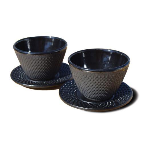 Old Dutch 2-pc. Cast-Iron Teacup & Saucer Set