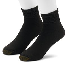 Men's GOLDTOE 2-pack Non-Binding Quarter Socks