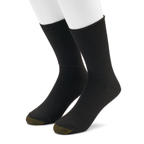 Men's GOLDTOE 2-pack Non-Binding Quarter Socks