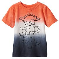 Baby Boy Jumping Beans® Dip-Dyed Dinosaurs Graphic Tee