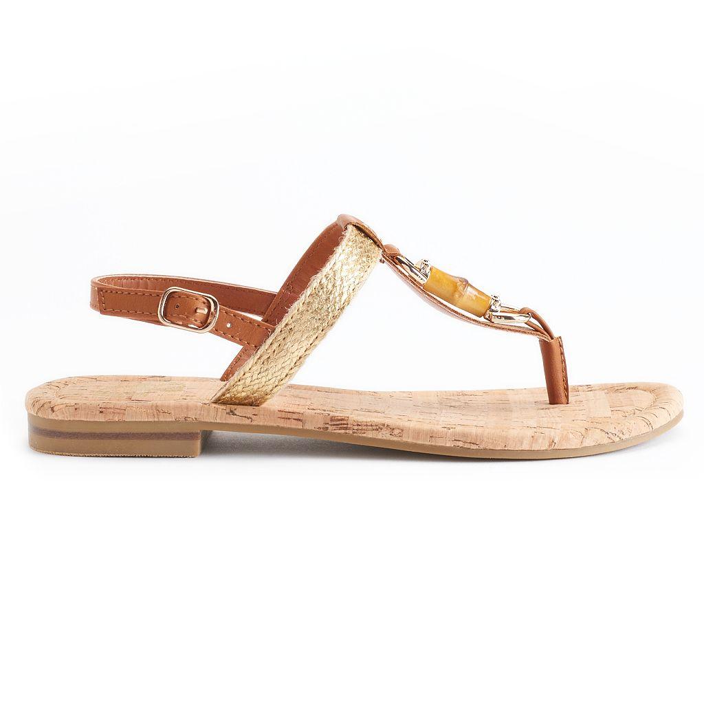 Dana Buchman Cork & Faux-Bamboo Thong Sandals