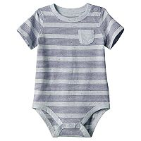 Baby Boy Jumping Beans® Striped Slubbed Bodysuit