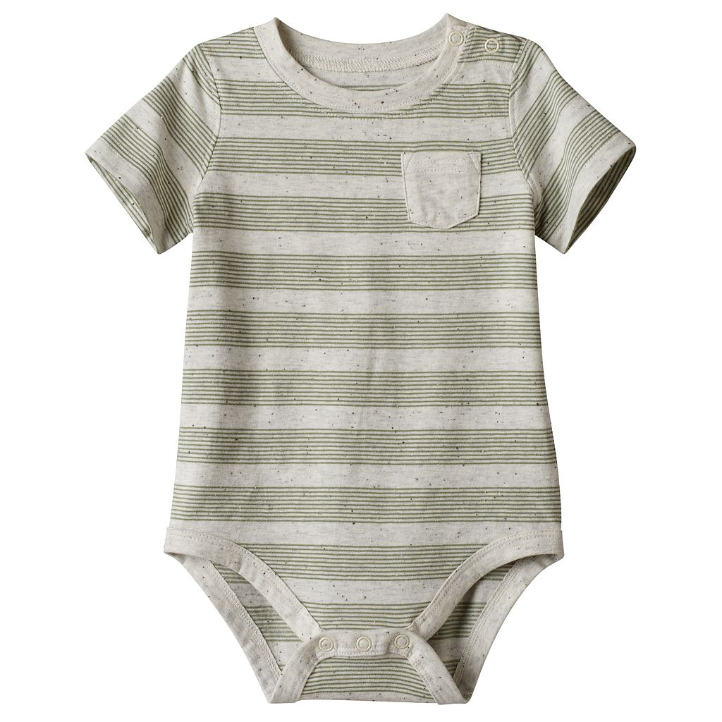 Baby Boy Jumping Beans® Striped Slubbed Bodysuit