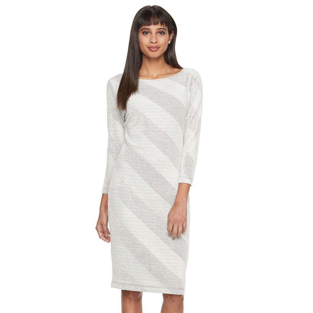 Women's Sharagano Textured Stripe Sheath Dress