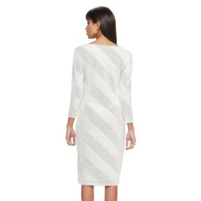 Women's Sharagano Textured Stripe Sheath Dress