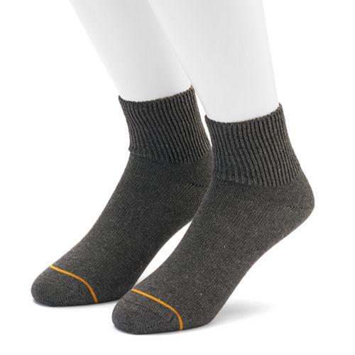 Men's GOLDTOE 2-pack Non-Binding Rayon from Bamboo Quarter Socks