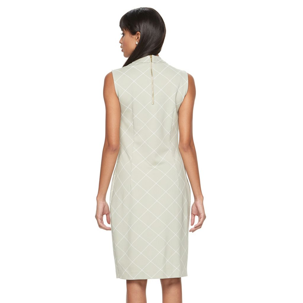 Women's Sharagano Windowpane Ponte Sheath Dress