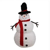 4-ft. Pre-Lit Snowman Outdoor Christmas Decor