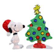 Northlight Pre-Lit Peanuts Snoopy and Christmas Tree Yard Decor