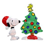 Northlight Pre-Lit Peanuts Snoopy and Christmas Tree Yard Decor